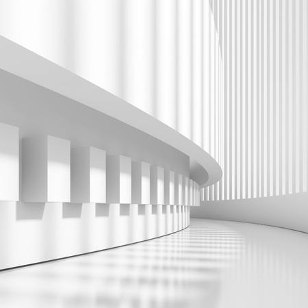 Futuristic Architectural Design Stock Photo