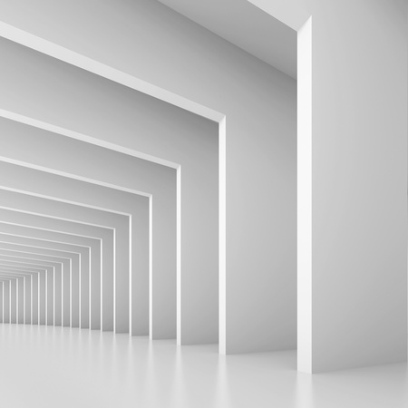 tunnel vision: White Tunnel Background Stock Photo