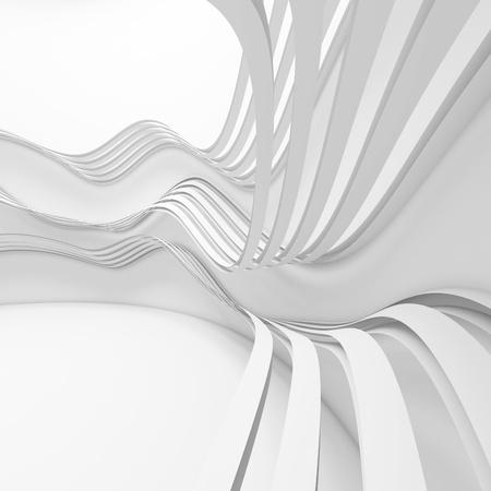 White Futuristic Architecture Design