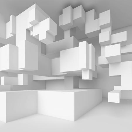 ceiling design: White Modern Architecture Design Stock Photo