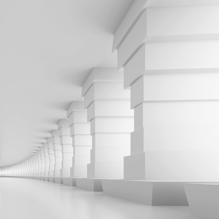 White Tunnel Background Stock Photo - 11455213