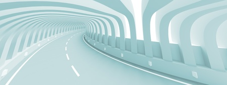 3d Illustration of Abstract Road illustration