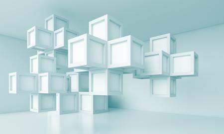3d Abstract Blue Interior Design Stock fotó - 14295570