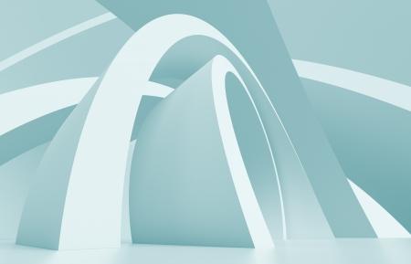 futuristic interior: 3d Blue Abstract Architecture Background