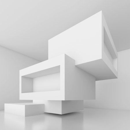 interior office: Abstract Architecture Design