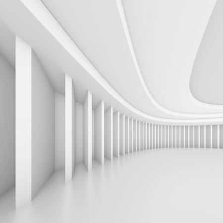 Creative Hall Interior Stock Photo