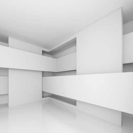 White Abstract Architecture Design Stock Photo