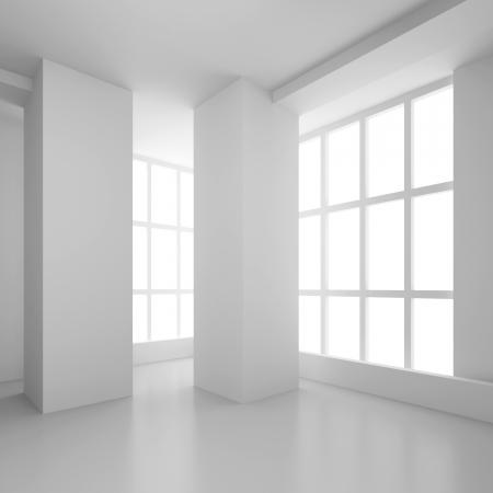 modern office space: Empty Room Interior