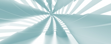 3d Abstract Panoramic Architecture Background photo