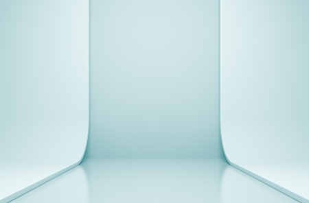 3 d ブルー抽象的な建築工事