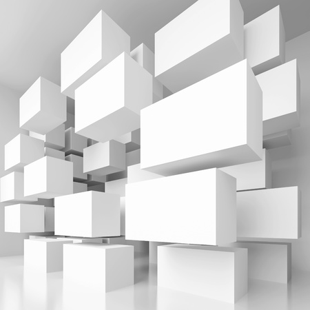3d White Abstract Architecture Background 版權商用圖片