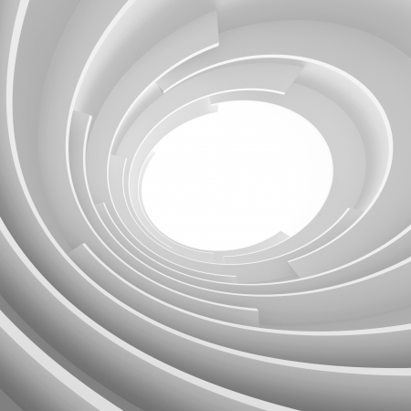 tunnel light: 3d White Abstract Architecture Background Stock Photo