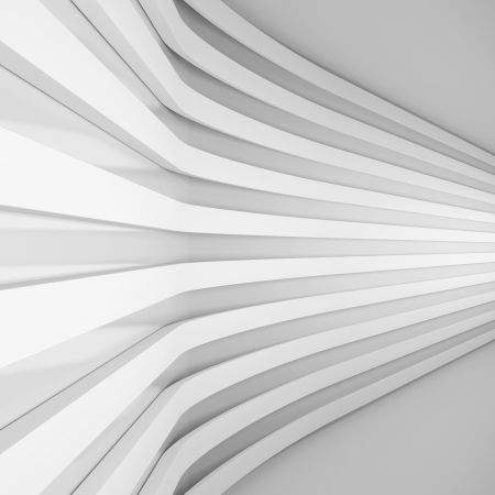 3d White Abstract Architecture Background photo