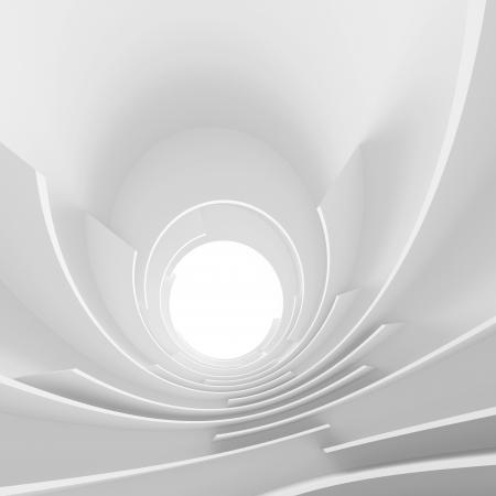 3 d の白の抽象的なアーキテクチャの背景