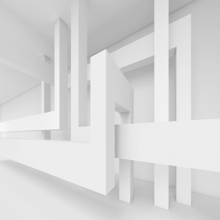 3d White Abstract Interior Design photo