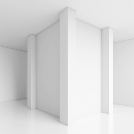 3d White Abstract Architecture Design photo