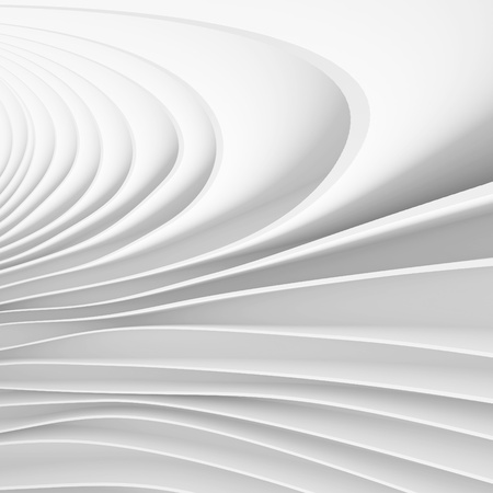 3d White Abstract Futuristic Wallpaper