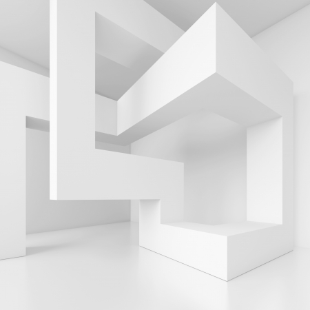 modern interior architecture: 3d White Building Blocks Design