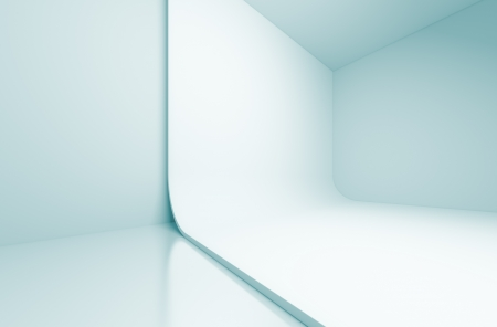 3d Blue Abstract Studio Background