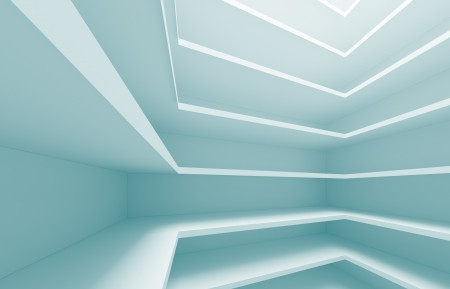 details: 3d Blue Abstract Architecture Details Stock Photo