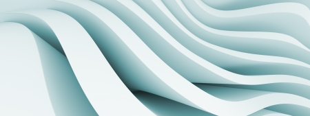 3d Blue Abstract Panoramic Background photo