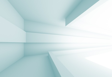 3d Abstract Futuristic Interior Background