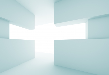 cross light: 3d Abstract Modern Interior Background