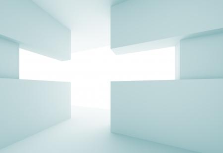 portone: Astratta 3d Modern Interior Background Archivio Fotografico