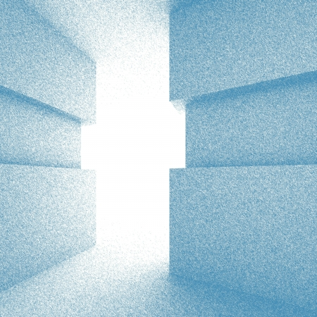 Blue Abstract Doorway Background photo