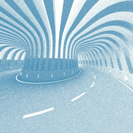 autobahn: Abstract Road Vintage Background Stock Photo