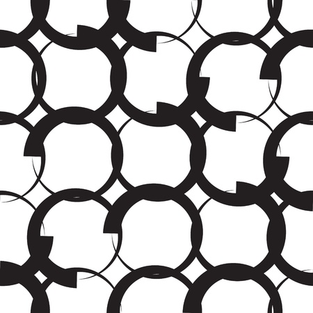 Seamless Monochrome Geometric Pattern Stock Vector - 21929394