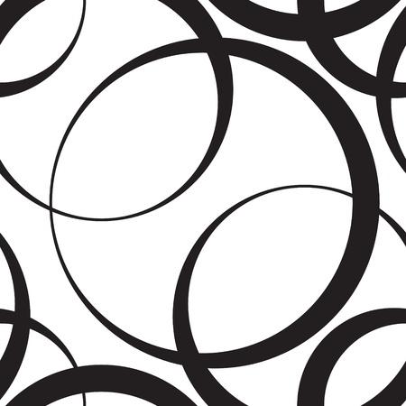 monochroom: Vector Abstracte Naadloze monochrome achtergrond