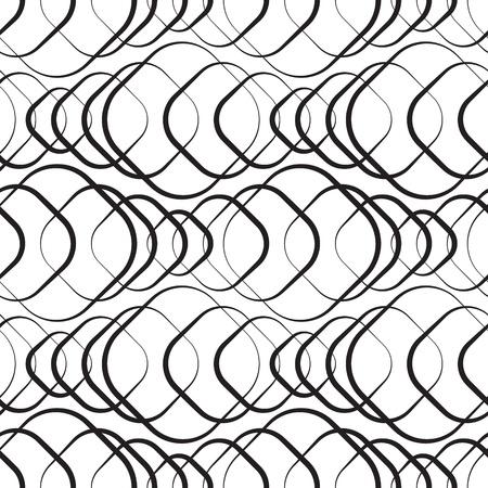 シームレスな白黒の幾何学的な壁紙  イラスト・ベクター素材