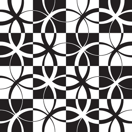 Vector Abstract Seamless Monochrome Pattern Vector