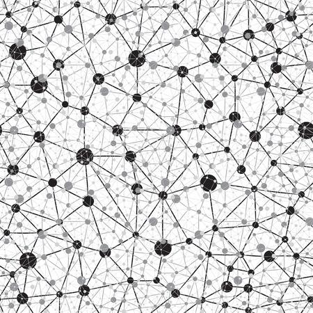 ニューラル ネットワークのシームレスな背景  イラスト・ベクター素材