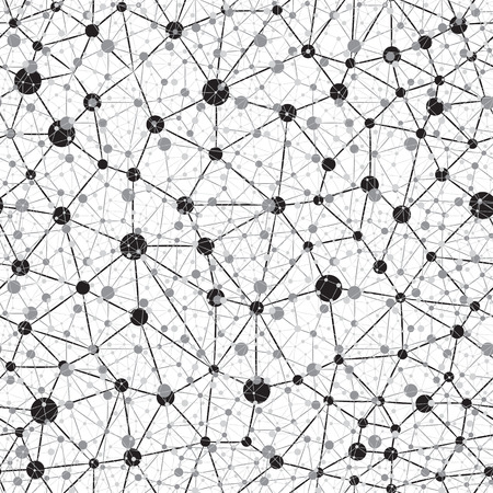 Nahtlose Hintergrund Neural Network Standard-Bild - 22677250