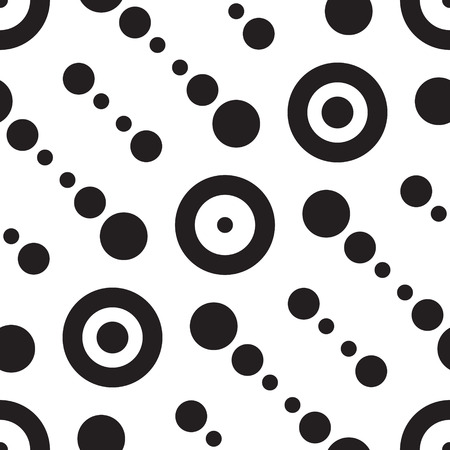 Abstract Monochrome Geometric Pattern Vector