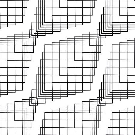 モノクロのシームレスな幾何学的なパターン