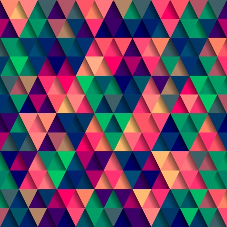 psychedelic: Abstract Pixel Triangle Pattern