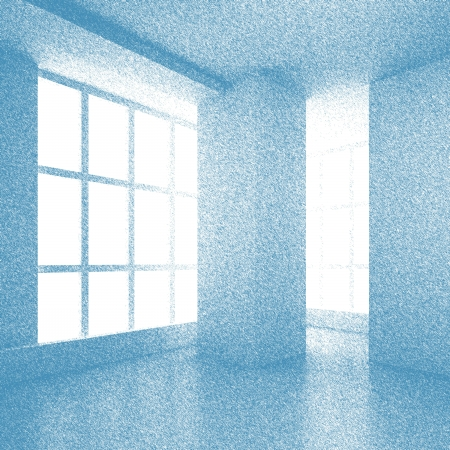 Blue Abstract Hand Drawn Interior photo
