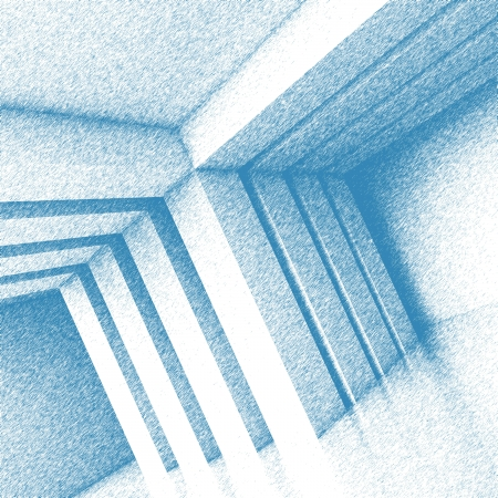 3d Blue Abstract Interior Background photo