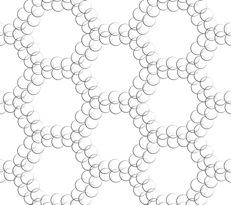 Vector Seamless Monochrome Geometric Wallpaper Vector