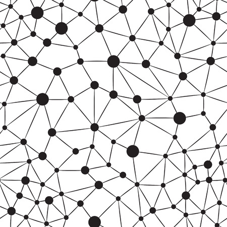 シームレスなニューロンの背景  イラスト・ベクター素材