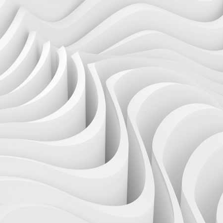 3d White Modern Interior Design