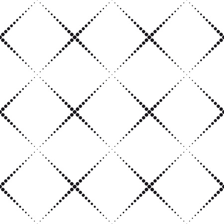 Seamlees Monochrome Geometric Background Vector