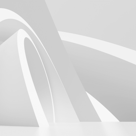 3d White Architecture Background