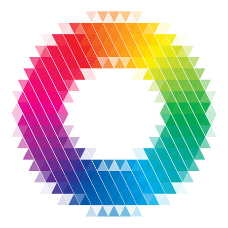 Vector Color Wheel Isolated on White Vettoriali