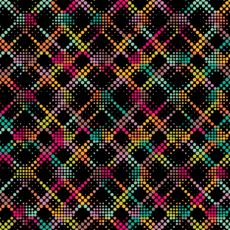 Vector Seamlees Colorful Mosaic Background Vector