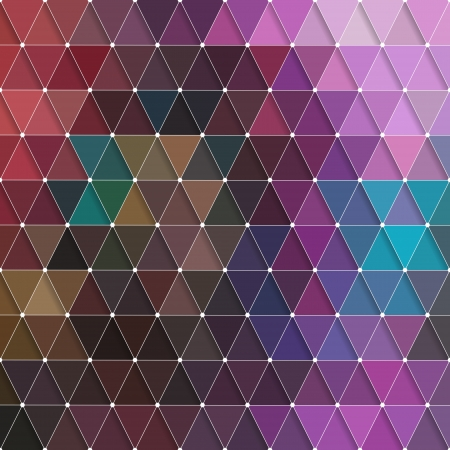 Vector Abstract Colorful Triangles Background Vector