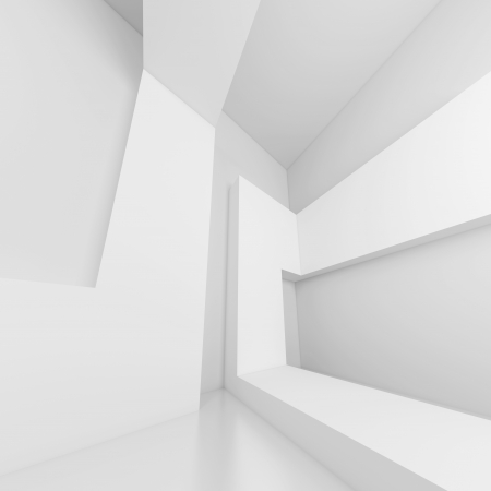 3d White Modern Building Background